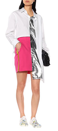 Белые кроссовки женские с абстрактным принтом 2020. Look by Maison Margiela's look