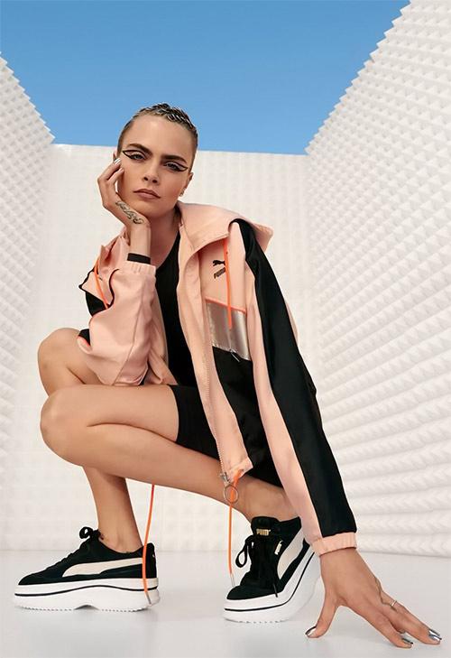 Кара Делевинь в рекламной кампании PUMA 2020