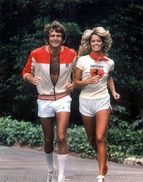 Одежда для активного отдыха 80-х. Фарра Фосетт