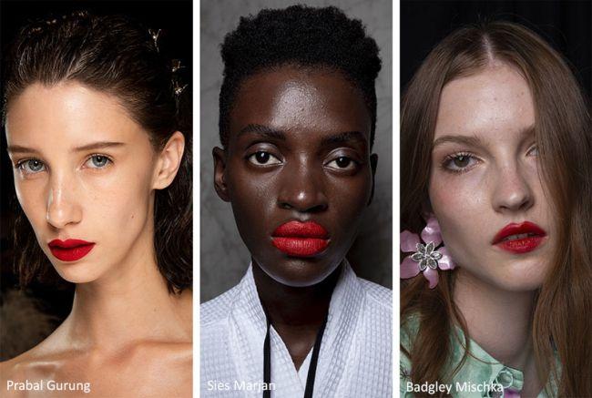 Модные оттенки красной губной помады 2020