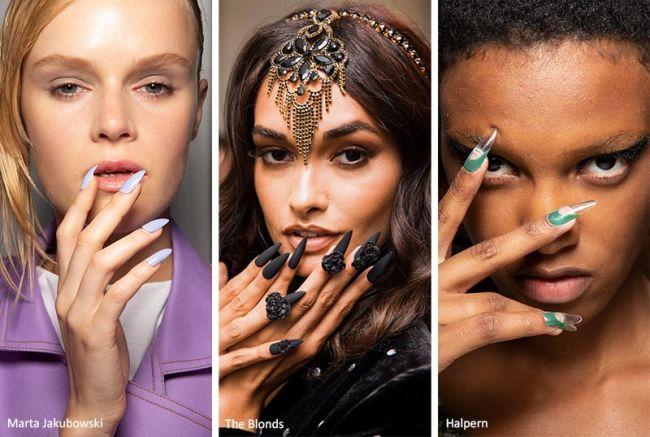 Ногти стилеты - модный маникюр весна-лето 2020