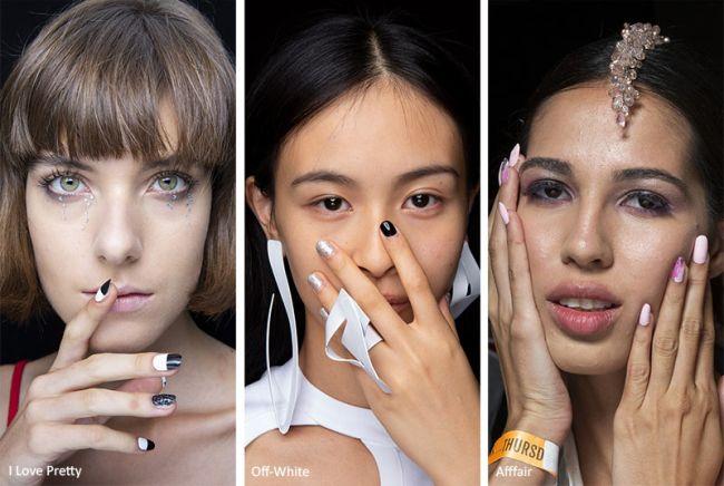 Маникюр с акцентом на безымянном пальце - модный маникюр весна-лето 2020