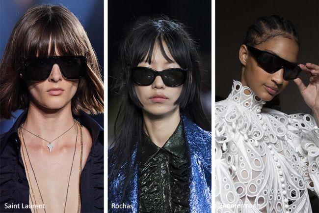 Черные солнцезащитные очки весна-лето 2020