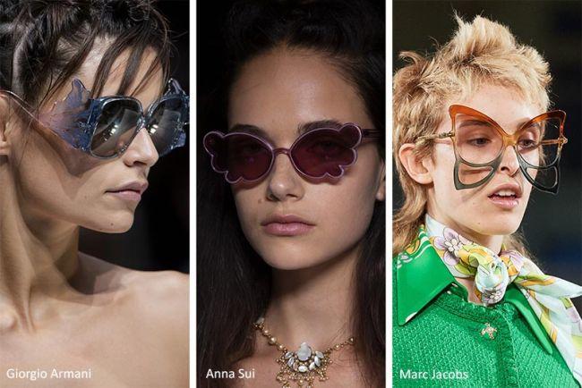 Солнцезащитные очки необычной формы - модные очки весна-лето 2020