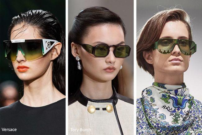 Модели очков с зелеными линзами - тренд весны-лета 2020