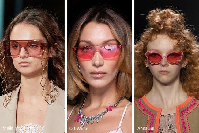 Солнцезащитные очки с розовыми стеклами