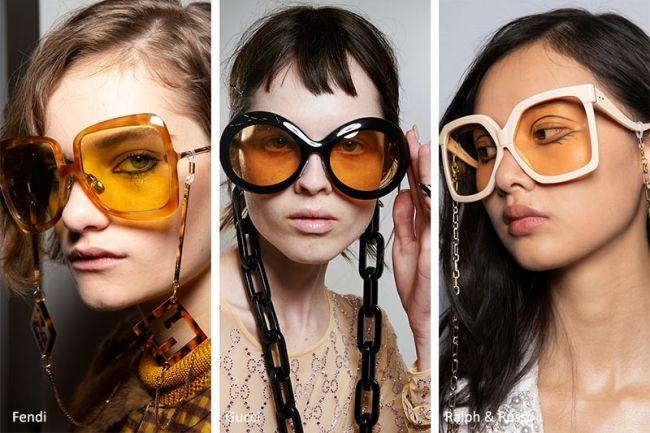 Модные очки с желтыми стеклами: Fendi, Gucci, Ralph&Russo