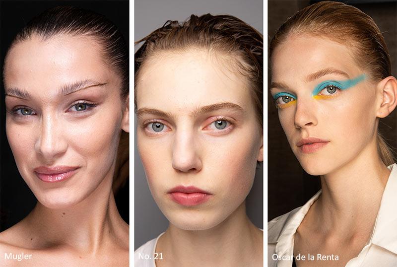 Естественный макияж Mugler, No.21, Oscar de la Renta Весна-лето 2020
