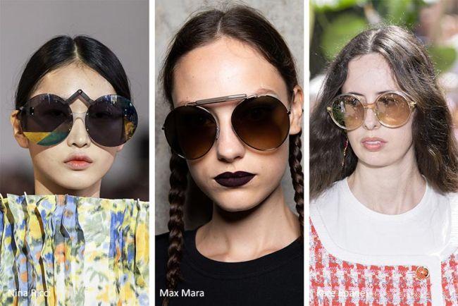 Большие круглые очки от Nina Ricci, Max Mara, Kate Spade