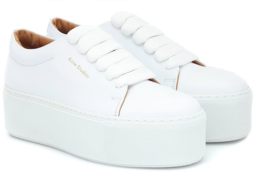 Кроссовки белого цвета от Acne Studio 2020