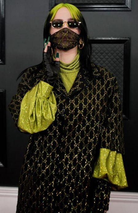 """Певица Билли Айлиш в образе от Gucci на вручении """"Грэмми"""""""