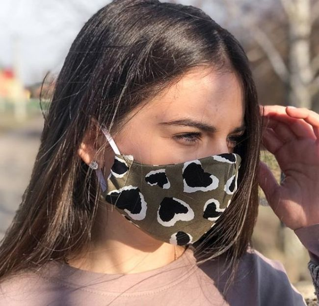 Защита от коронавируса: маска с анималистическим принтом