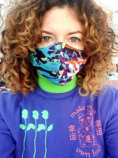 Разноцветная защитная маска для лица