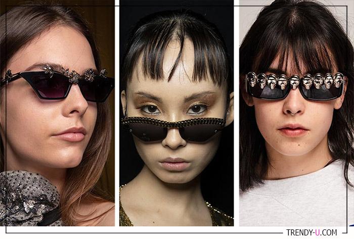 Оправы солнечных очков с декоративными элементами в коллекциях Genny, Christian Cowan, Ashley Williams