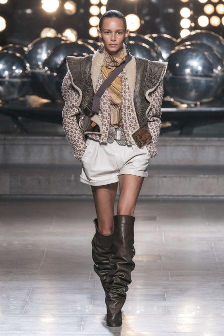 Короткая куртка с оборками из коллекции Isabel Marant