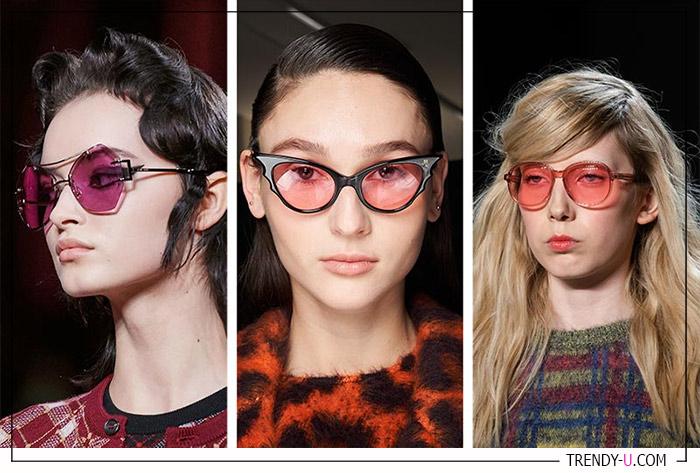 Розовые очки в коллекциях Sinthia Rowley, Rochas и Miu Miu FW 2020