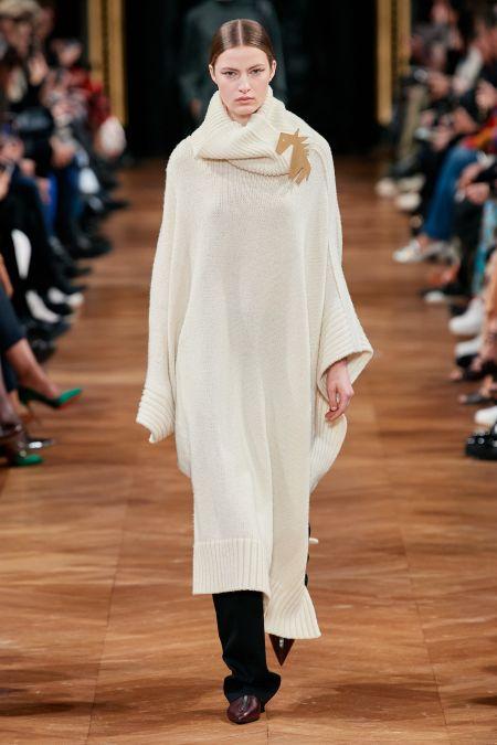 Длинное белое вязаное платье с украшением в виде головы лошади Stella McCartney