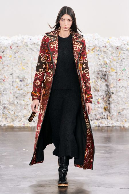Пальто со скандинавским орнаментом - тренд 2020