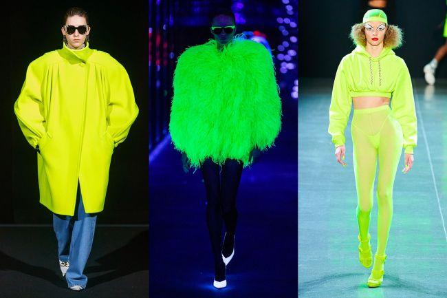 Модные неоновые образы 2020