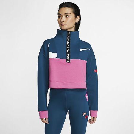 Синий спортивный костюм с розовыми и белыми вставками