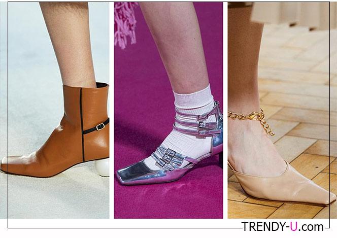 Ботильоны и туфли с квадратным носком 2020 из коллекций Awake Mode, MSGM и J.W. Anderson