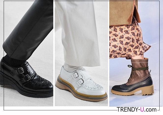 Туфли Hermes, ботинки Chloe осень-зима 2020-2021