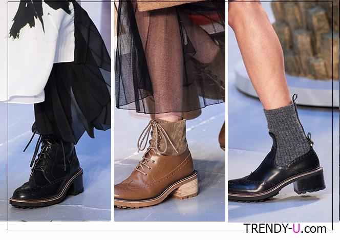 Ботинки мужские в женской коллекции Chloe осень-зима 2020