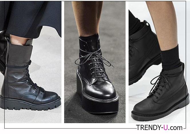 Повседневные ботинки стиле Доктор Мартинс в коллекциях Margaret Howell, Rochas and Valentino 2020-2021