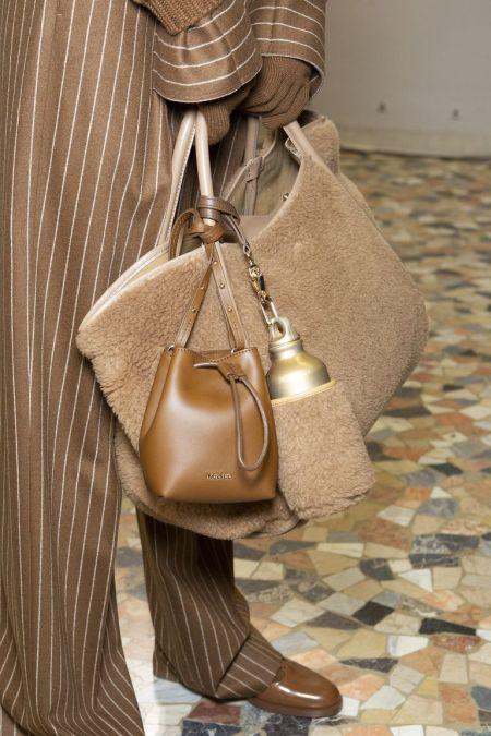 Плюшевая сумка с дополнительным отделом для бутылки Max Mara