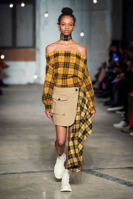Высокий пучок - модная прическа зима 2021