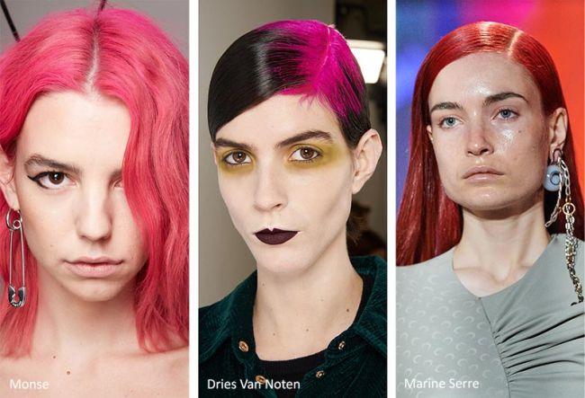 Разноцветные волосы - модный тренд причесок осень-зима 2020-2021