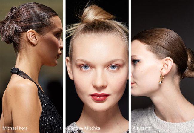 Прическа пучок - модная прическа осень-зима 2020-2021