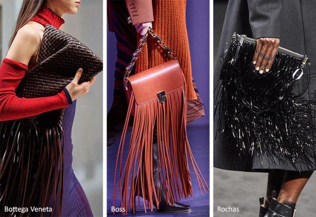 Сумка с длинной бахромой - модные сумки осень-зима 2020-2021