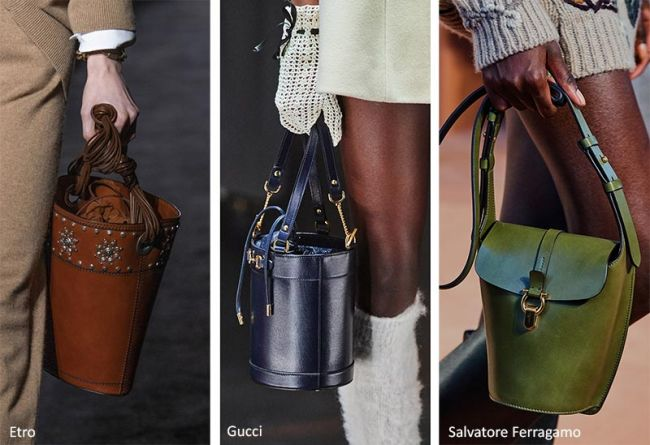 Сумка-ведро 2020 - коллекции Etro, Gucci, Salvatore Ferragamo