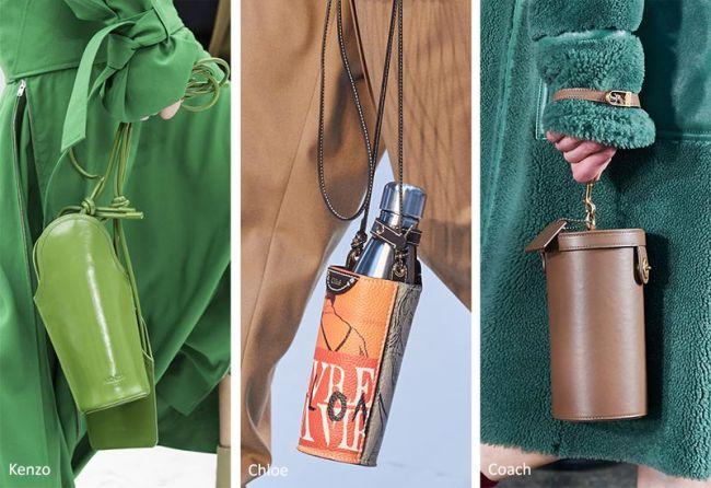 Модные женские сумки осень 2020 - мешочки для бутылок