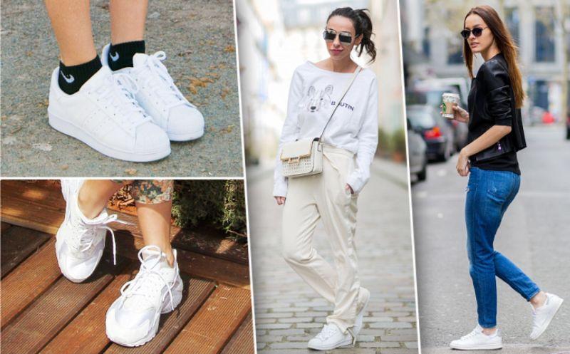 Белые кроссовки под самые разные образы