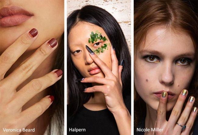 Лунный маникюр с блестками - модные тенденции в маникюре осень 2020