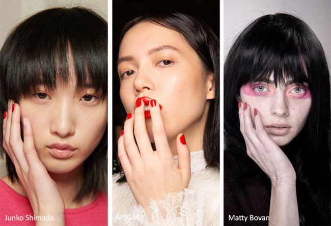 Красный маникюр на короткие ногти - мировые тенденции моды