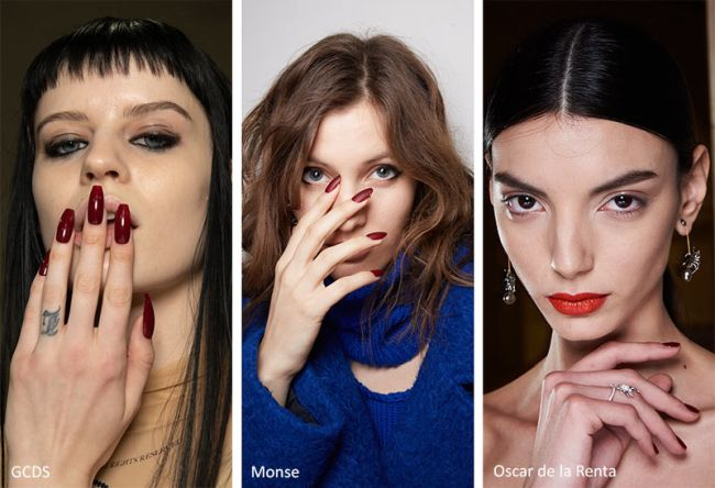 Бордовый маникюр 2022 - фото модного маникюра