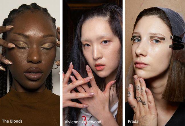Нюдовый маникюр - модные тенденции в маникюре Какая форма ногтей в моде
