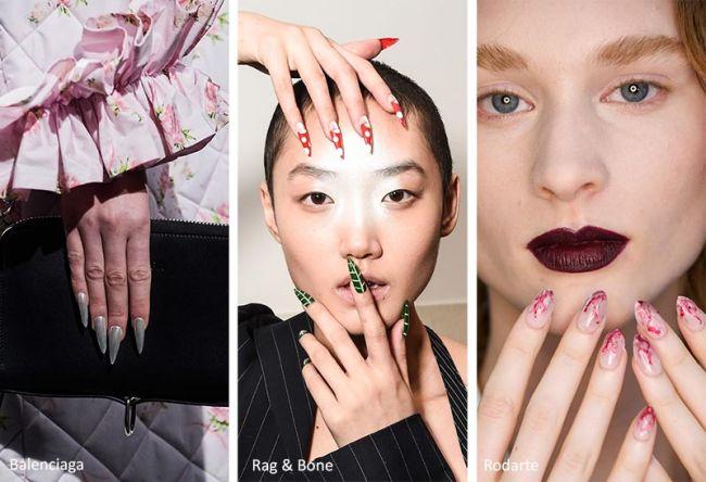 Ногти стилеты длинные - модный маникюр зима 2021