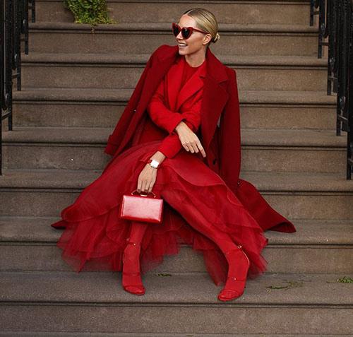 Образ на основе красного цвета
