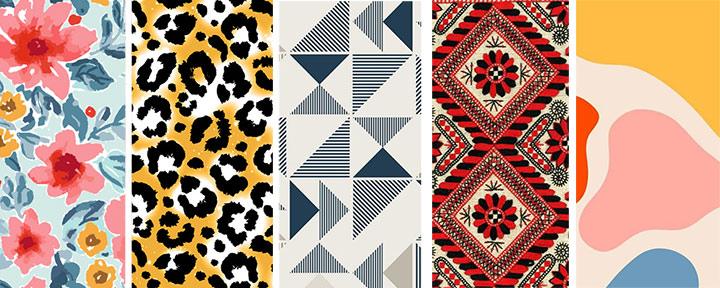 5 видов принтов: цветочный, анималистический, геометрический, этнический и абстрактный