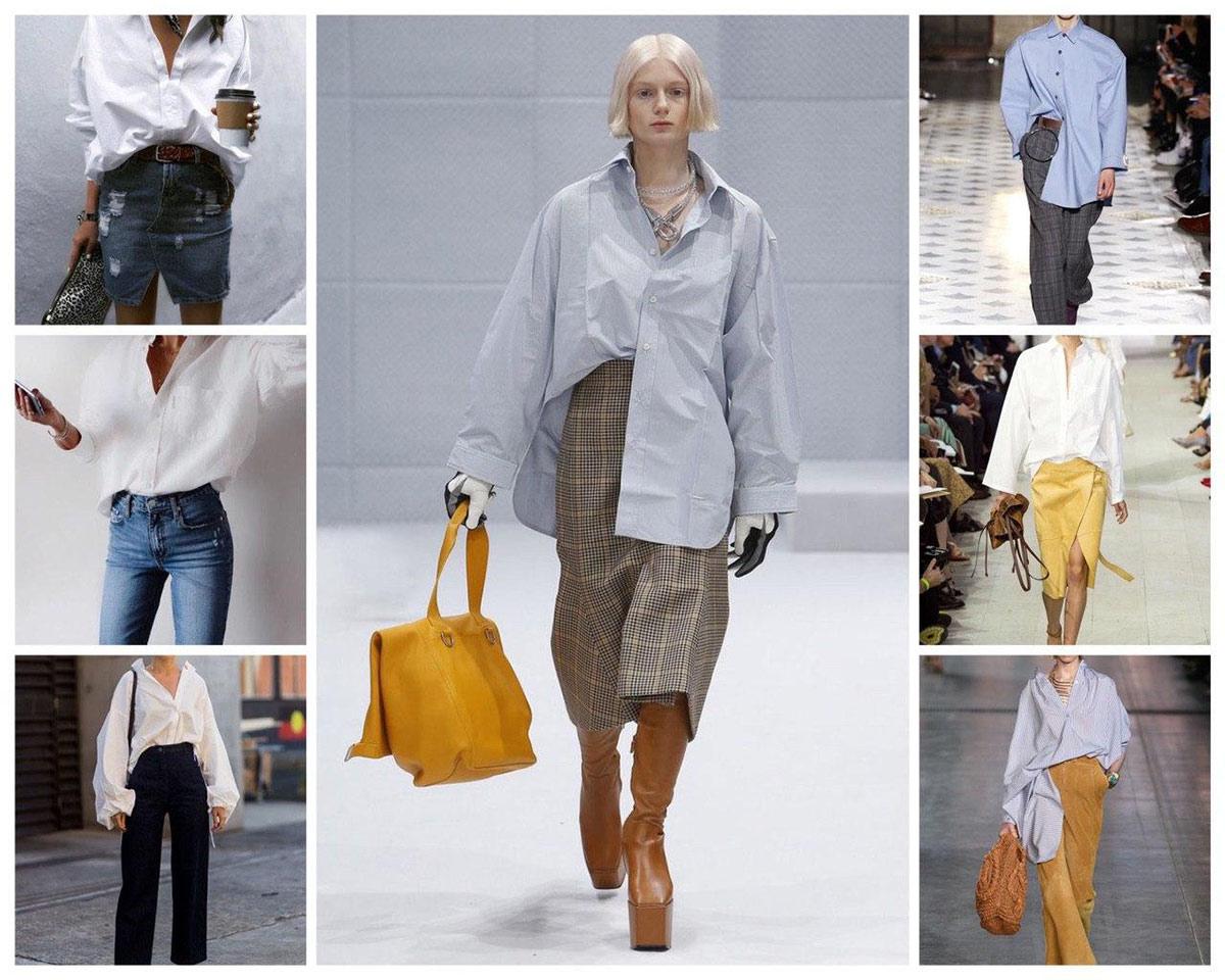 Как модно заправить рубашку большого размера