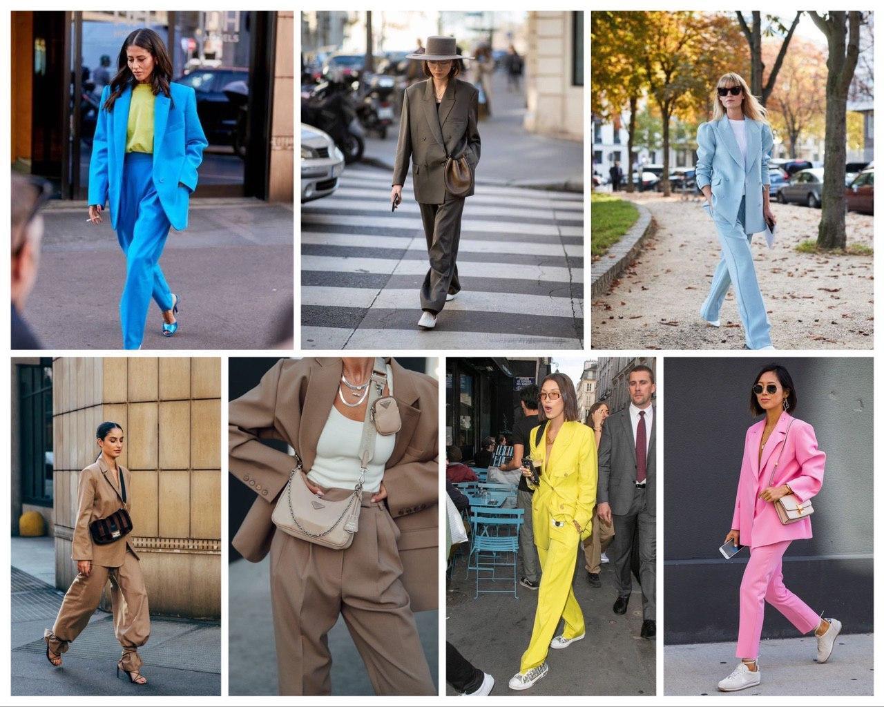 Как носить пиджак оверсайз: образы, луки