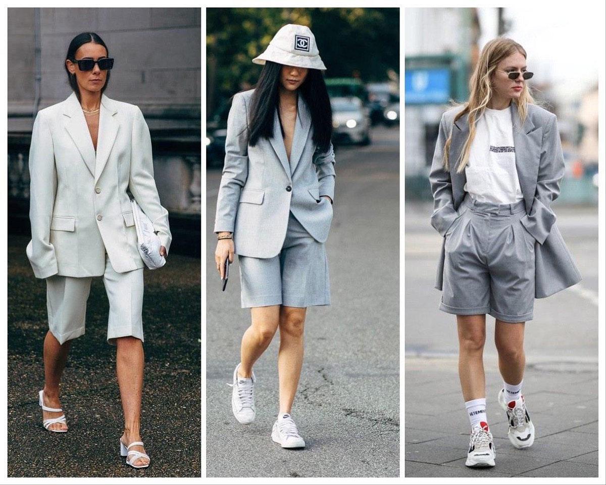 Пиджак в сочетании с шортами и бермудами