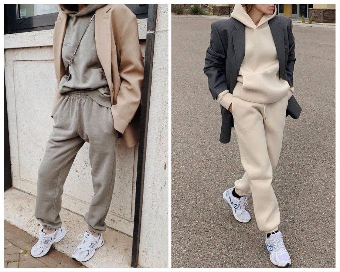 Пиджак в сочетании со спортивным костюмом