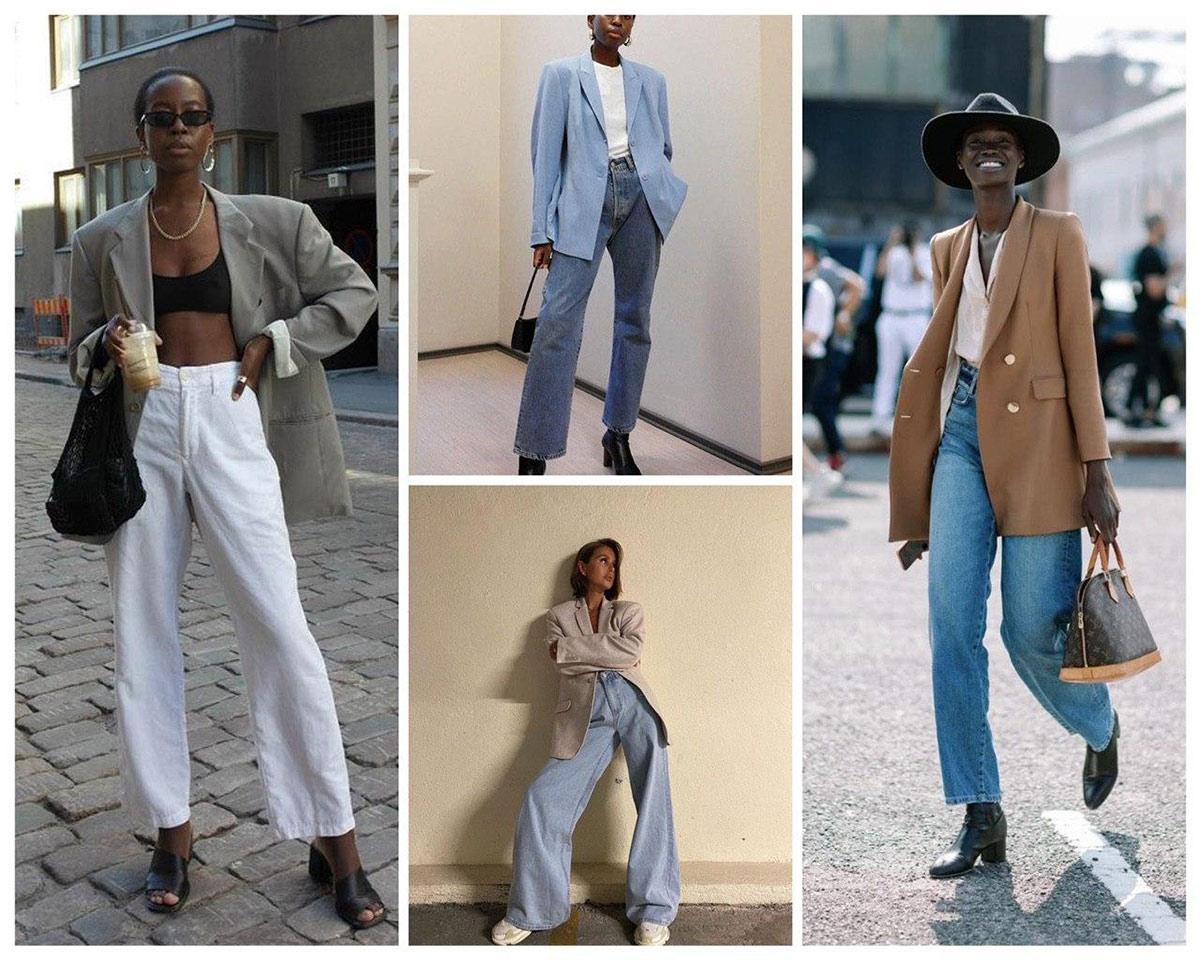 В сочетании с джинсами