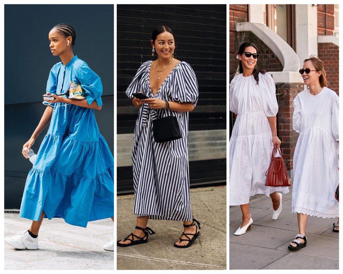 Как носить платье oversize