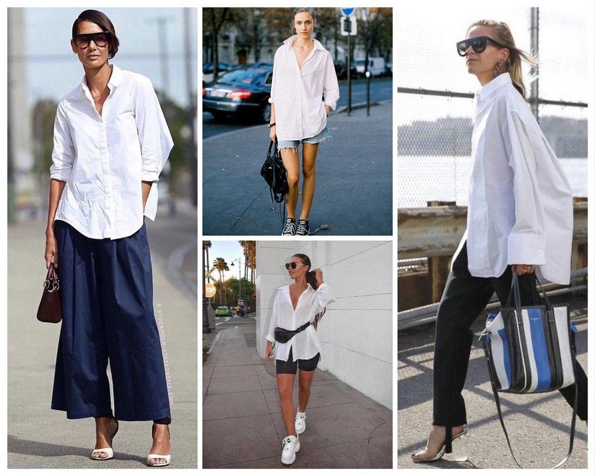 Как стилизовать белую рубашку